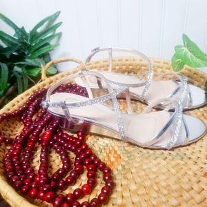 I. Miller Silver Wedding Formal Dress Sandals 9M